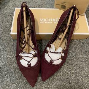Michael Kors Tabby Flat Suede plum